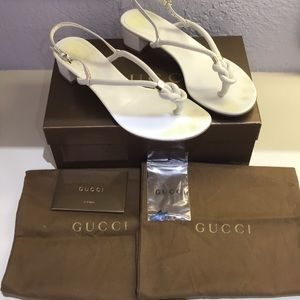 Gucci sandal shoes in white